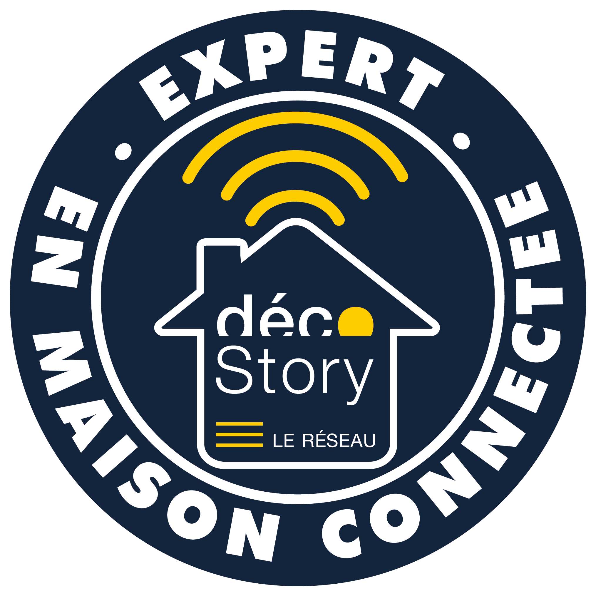 label EXPERT EN MAISON CONNECTEE
